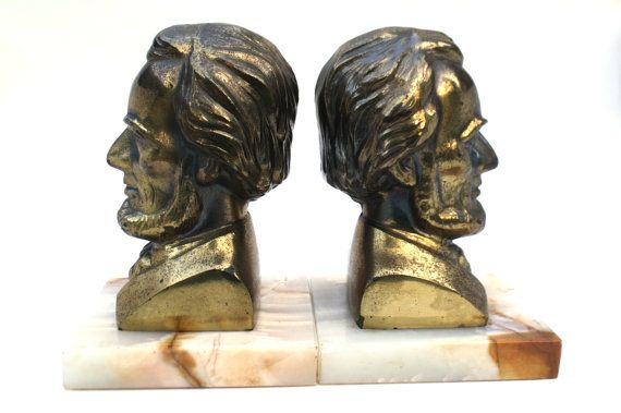 Vintage Abraham Lincoln  Bookends / Lincoln by Globalfindings