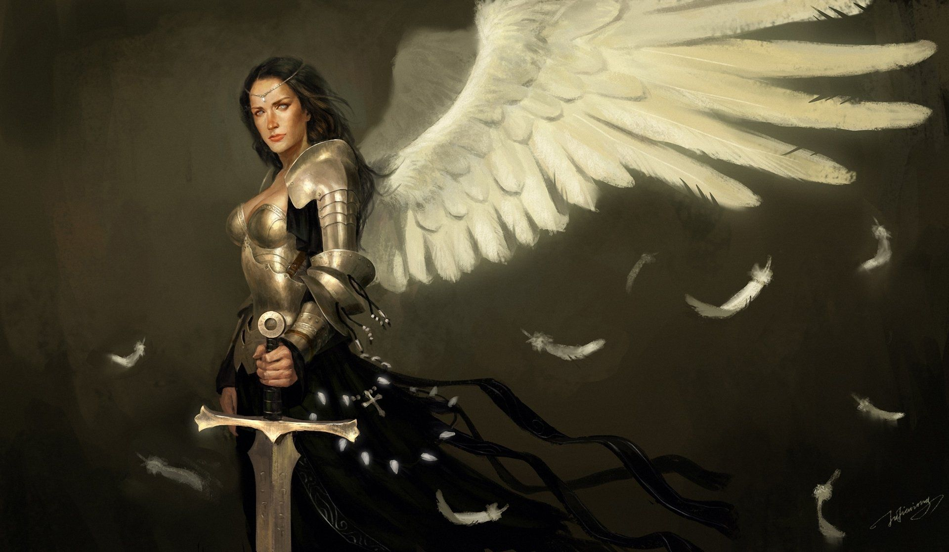 angel warrior sword wings - photo #5