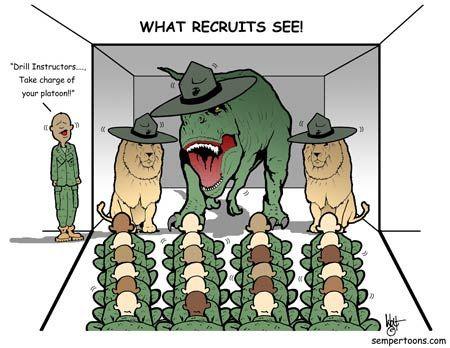 Recruit Vision Marine Corps Humor