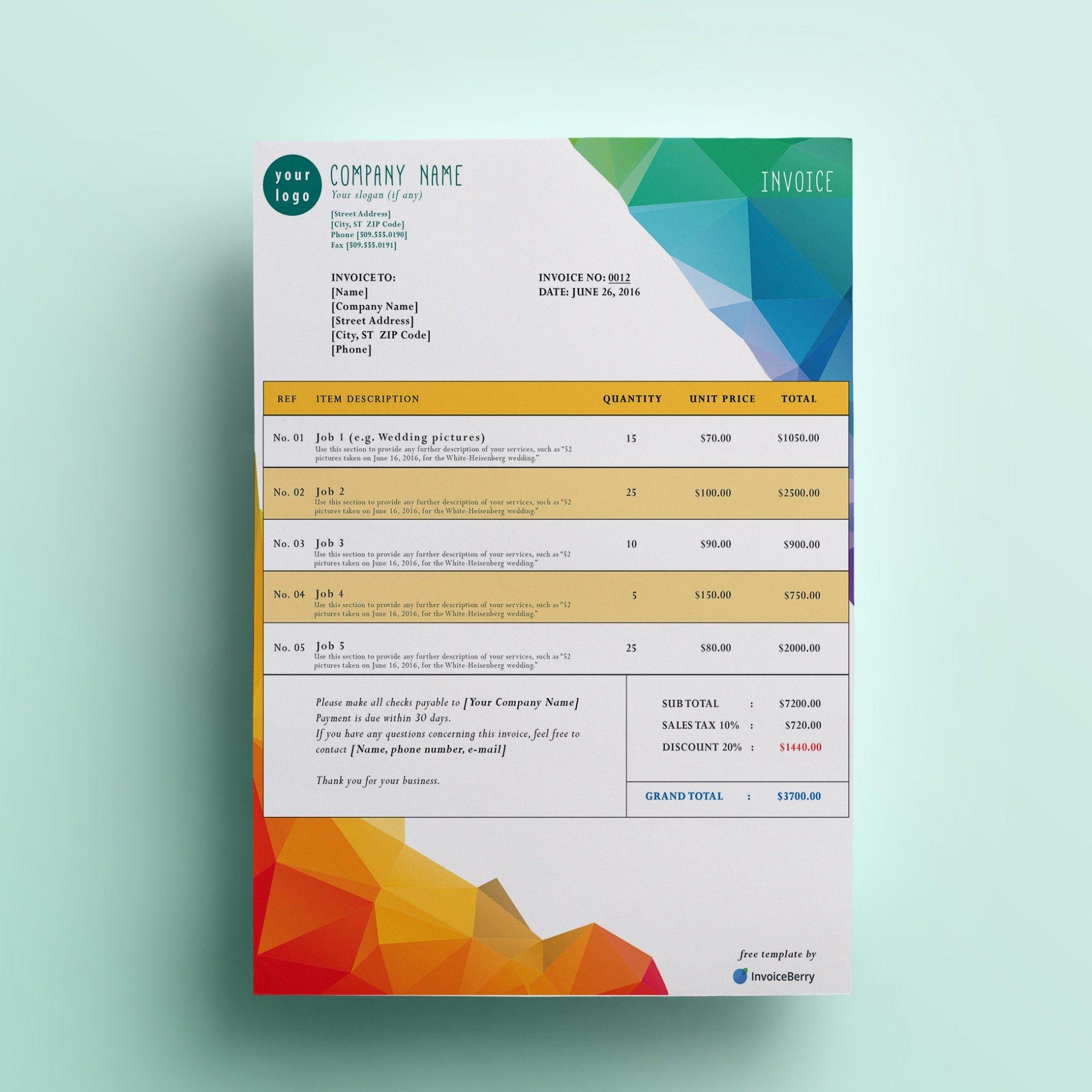 Unique Invoice Templates #xlstemplate #xlssample #xls