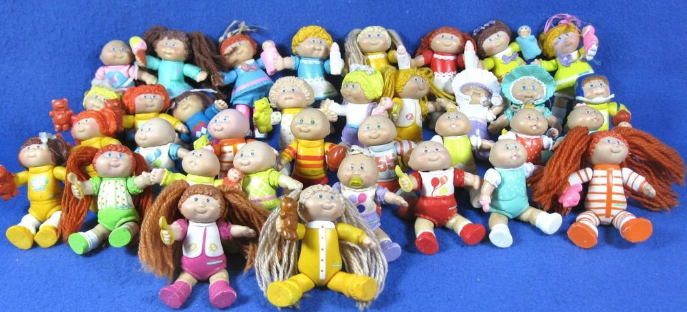 Vintage 1984 Cabbage Patch Kids Posable PVC Miniature Figurines Lot of 25 #cabbagepatchminiatures #PVC