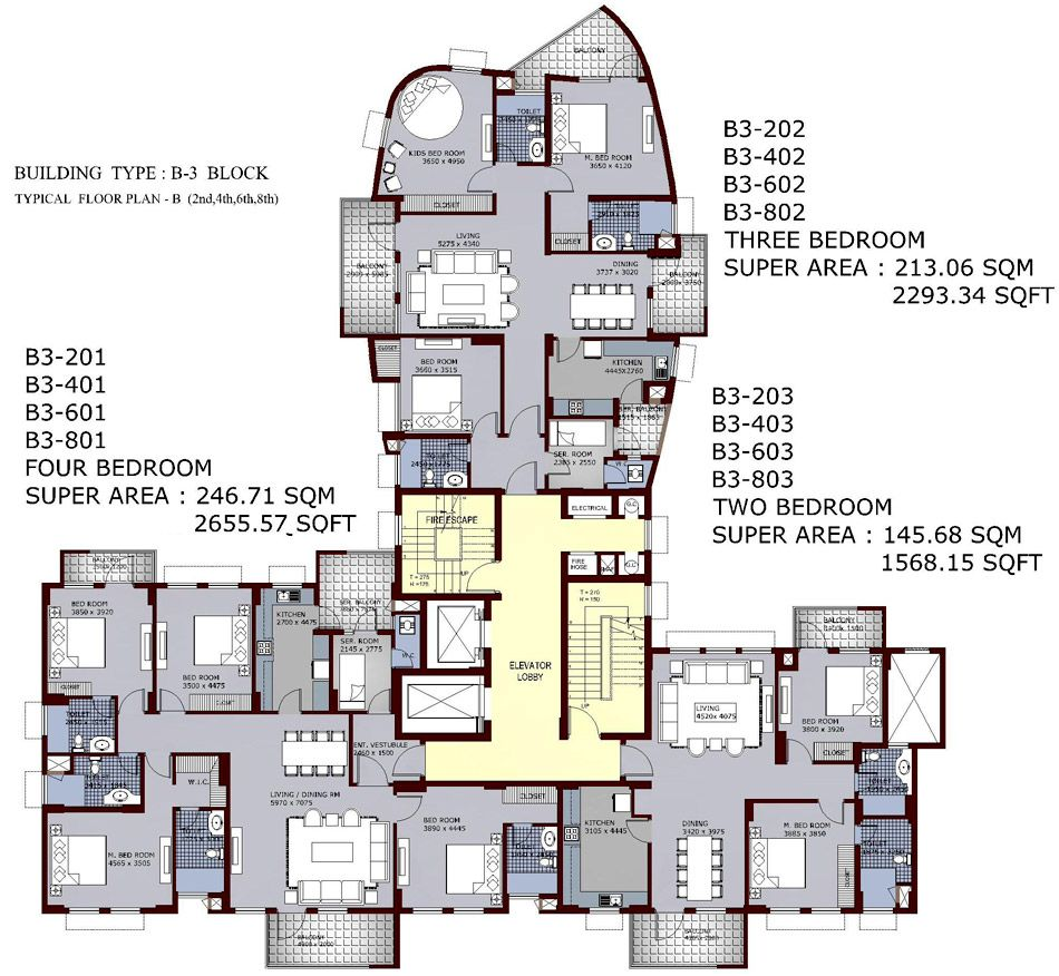 Sites To Find Apartments: High Rise Residential Floor Plan