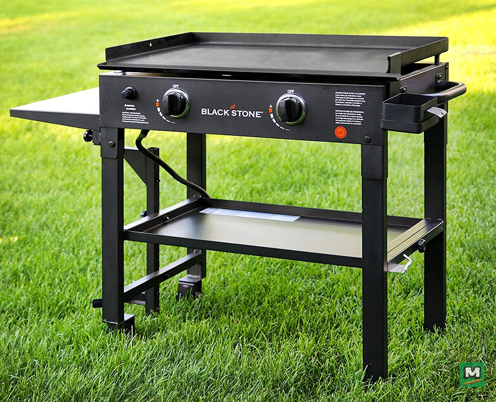 The Blackstone Griddle Gives A New World In Outdoor Cooking The Precise Control Of Heat Allows For Cooking At Flat Top Grill Gas Grill Reviews Best Gas Grills