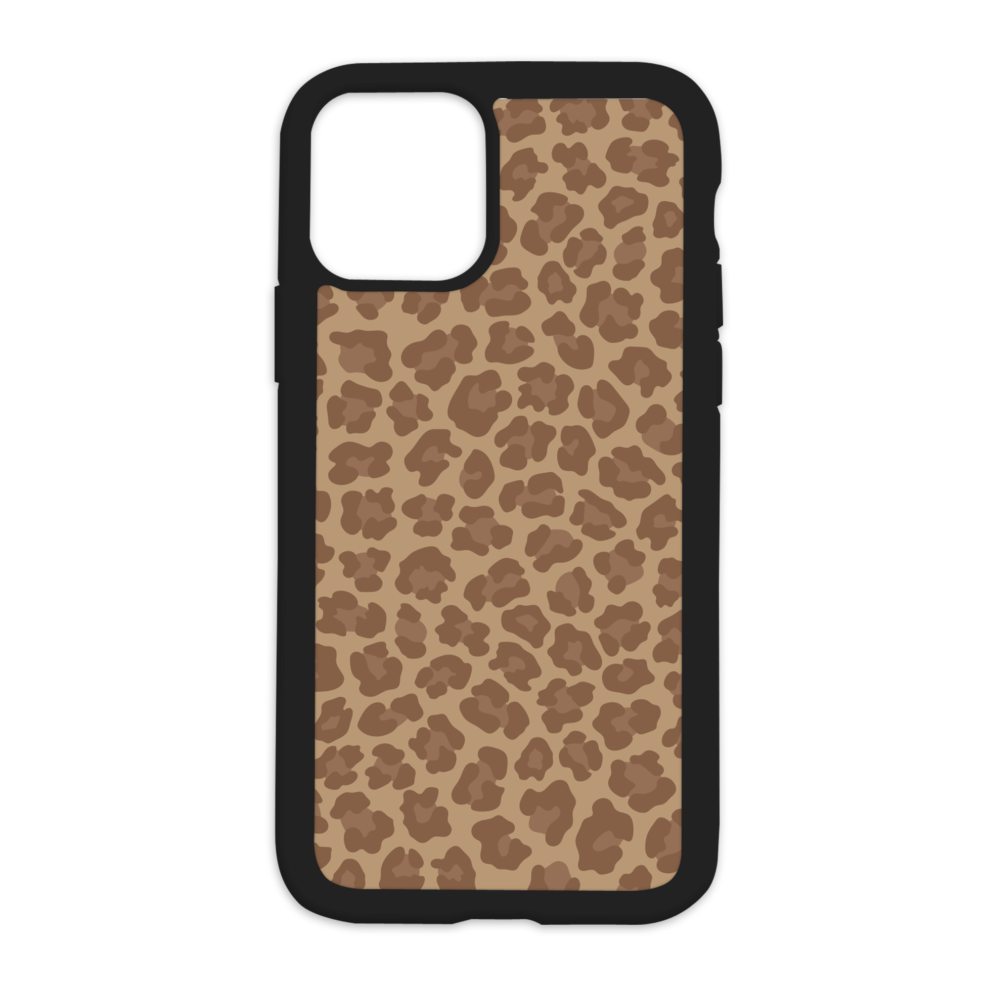 Leopard Print Design On Black Phone Case - 6/6s+ / Brown