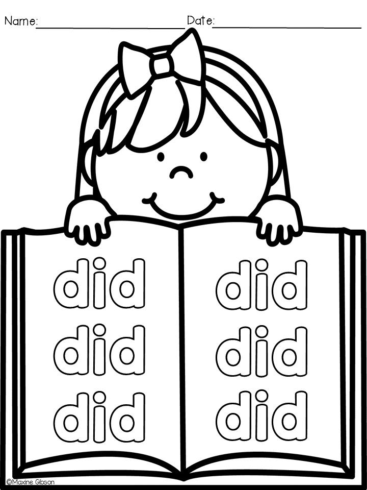 Beautiful Homework The Easy Way Printable Kindergarten Sheets ...