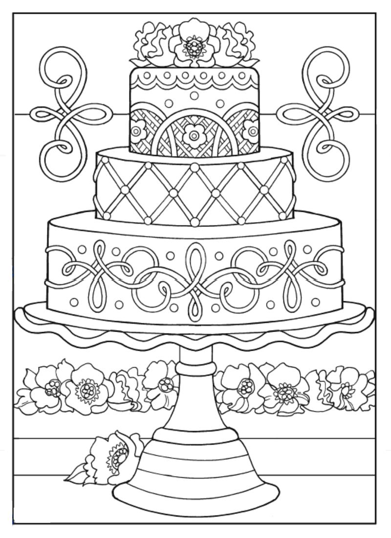 Creative Haven Designer Desserts Coloring Book Dover