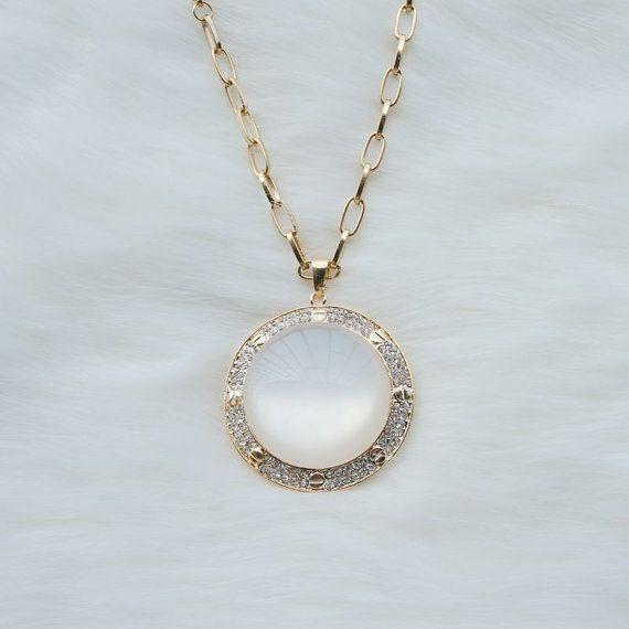 Simple circular white jade pendant necklace fashion jewelrysimple simple circular white jade pendant necklace fashion jewelrysimple design pendant necklacebig pendant mozeypictures Choice Image