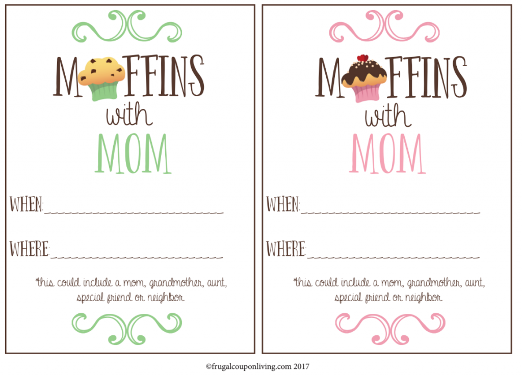 muffins with mom printable invite dayschool pinterest muffins for mom mom and muffin. Black Bedroom Furniture Sets. Home Design Ideas