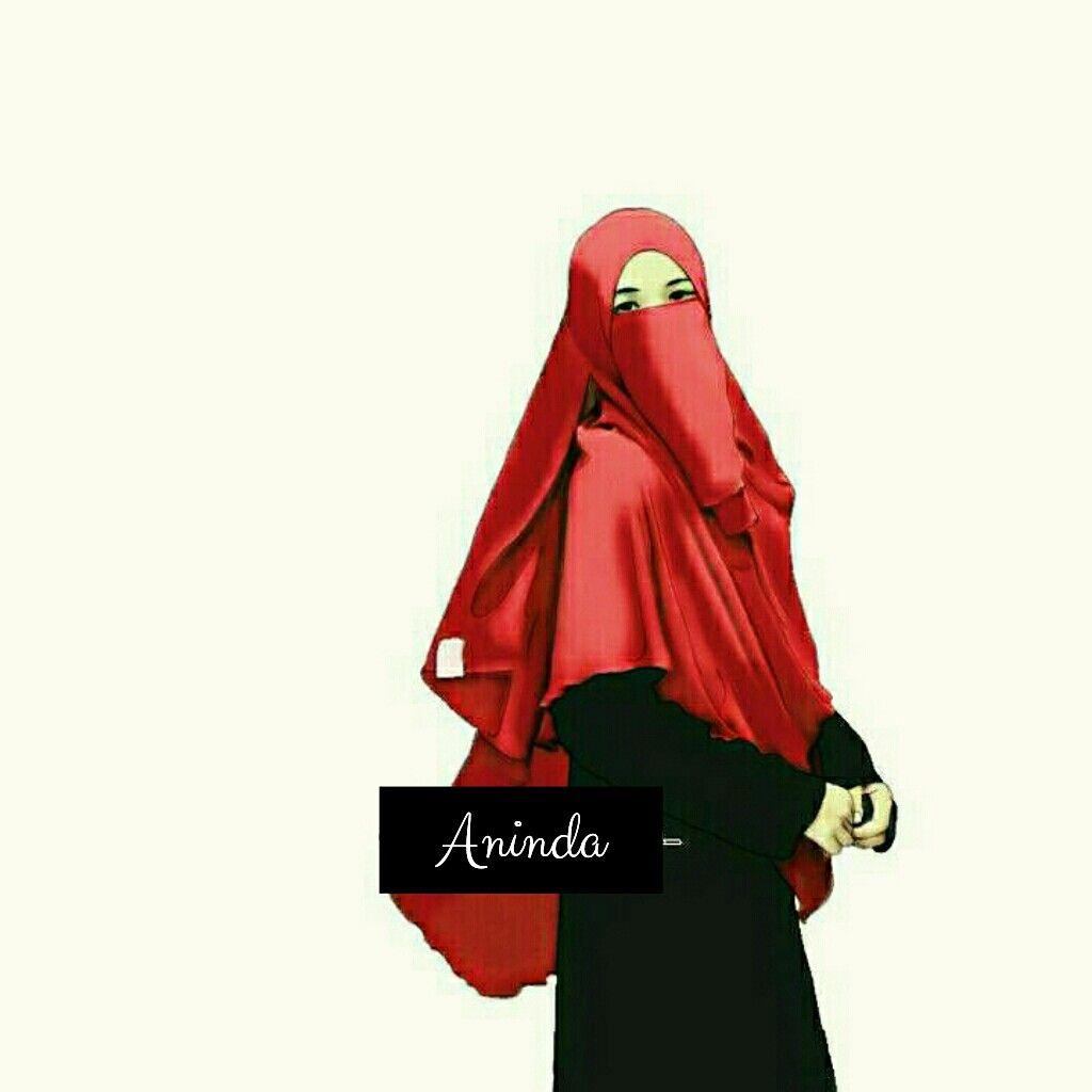 Hijab niqab vector ahmadfu22 kartun muslimah t