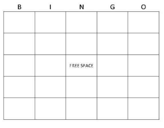 Bingo Generator Google Search Blank Bingo Cards Bingo Card Template Free Bingo Cards