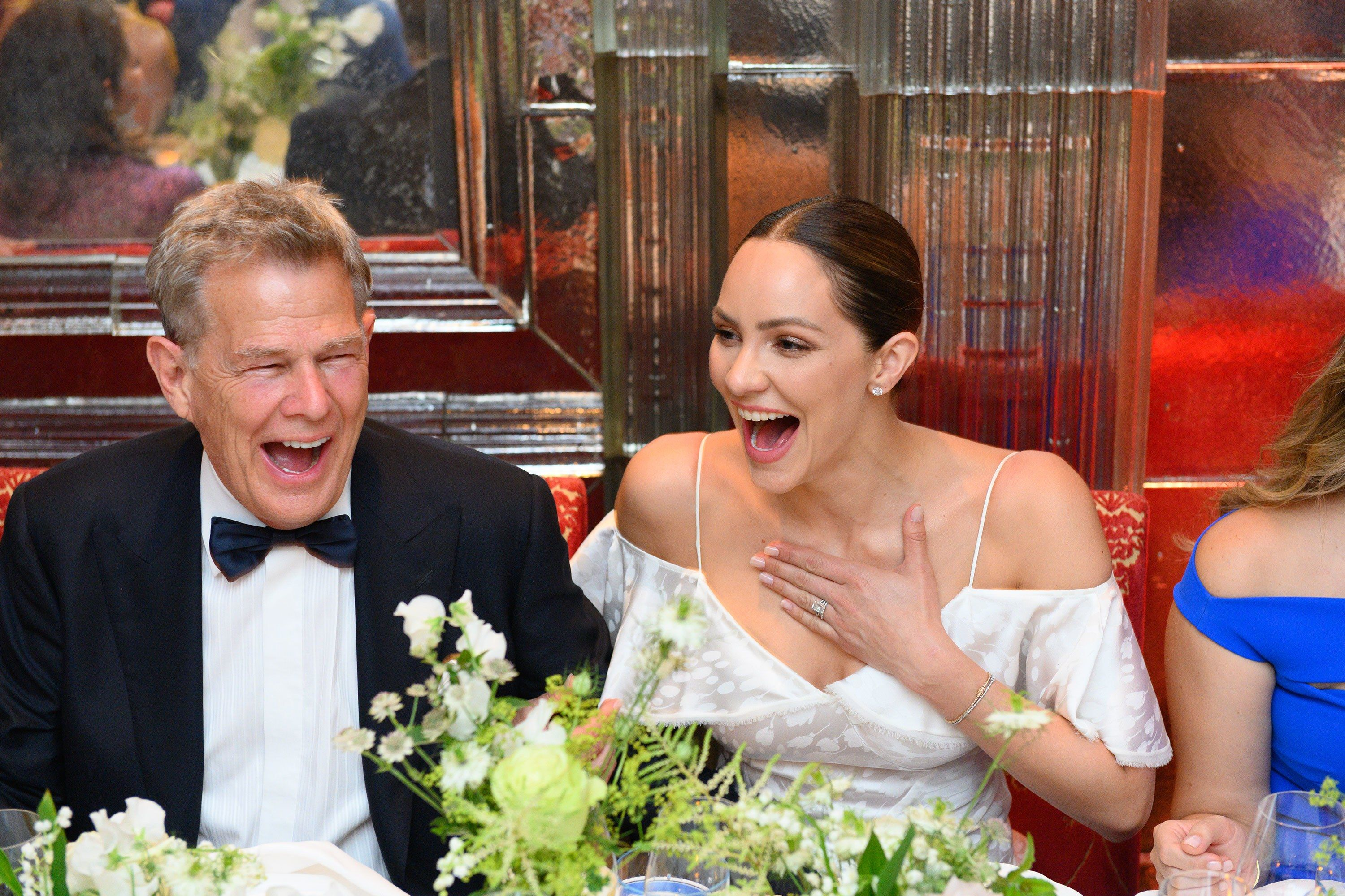 An Exclusive Look Inside Katharine Mcphee And David Foster S Wedding In London Bride Poses Wedding Dresses Zac Posen Wedding Gowns