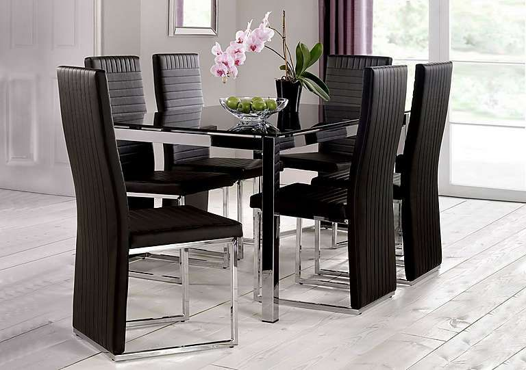 Eris Glass Dining Table Black Glass Dining Table Glass Dining