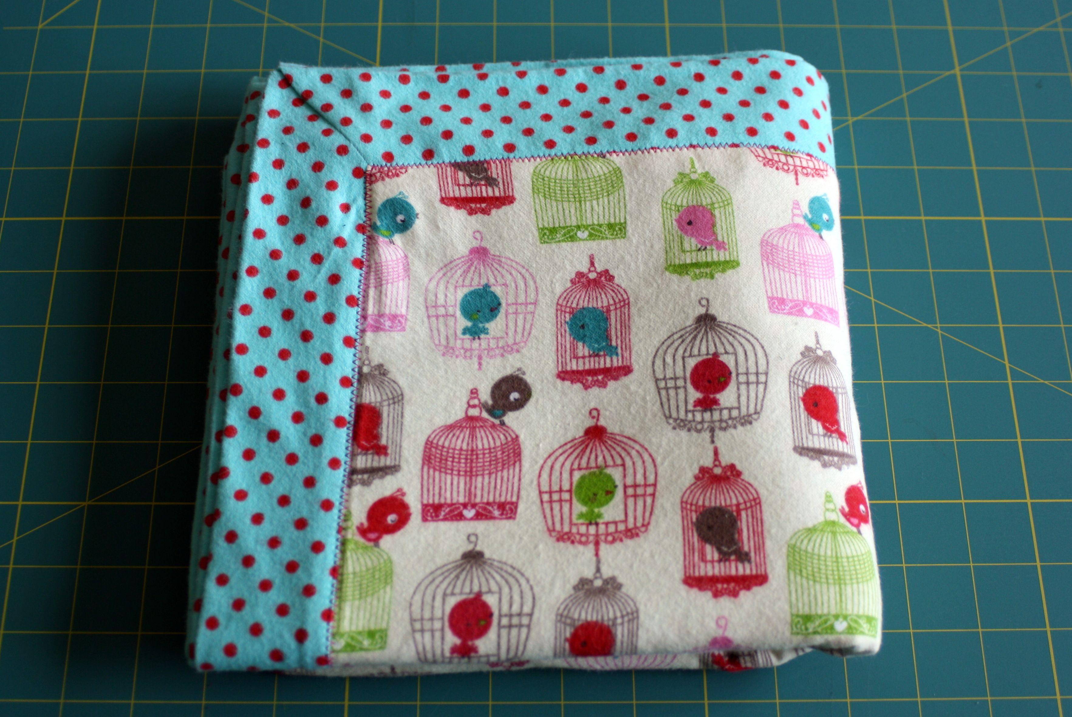 My self-binding baby blanket. Fabric from JoAnn\'s.   Things I\'ve ...