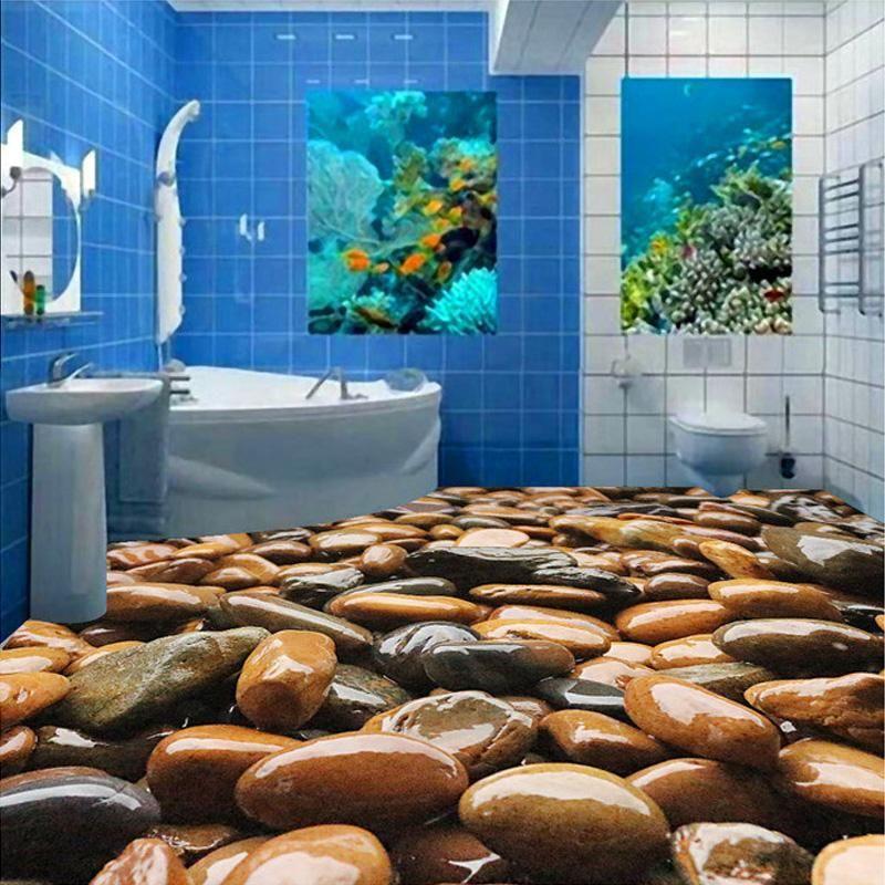 Custom Mural Wallpaper 3d Stone Pvc Floor Paintings Living Room Bedroom Vinyl Self Adhesive Waterproof Wallpaper For Bath Custom Murals Painted Floors Flooring
