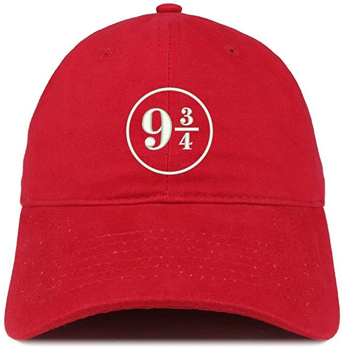2c7064a1050 Trendy Apparel Shop Harry Platform Embroidered Soft Cotton Adjustable Cap  Dad Hat - Red at Amazon Women s Clothing store