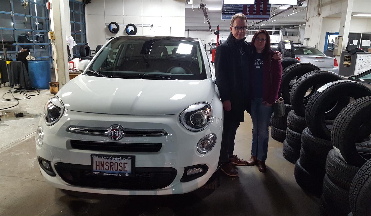 Congratulations And Best Wishes Galen And Terri On The Purchase Of Your  2017 FIAT 500X!