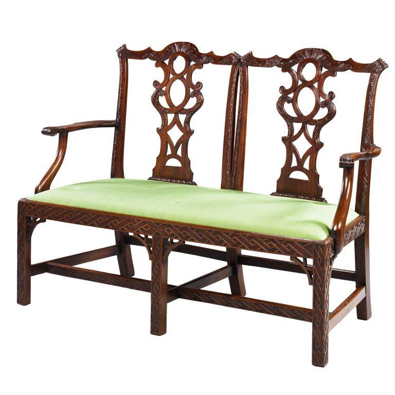an irish double chair back setee - Setee