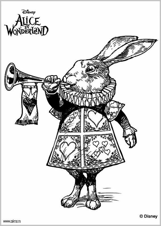 the white rabbit from tim burtons alice in wonderland coloring pages colouring adult detailed advanced printable kleuren voor volwassenen coloriage pour