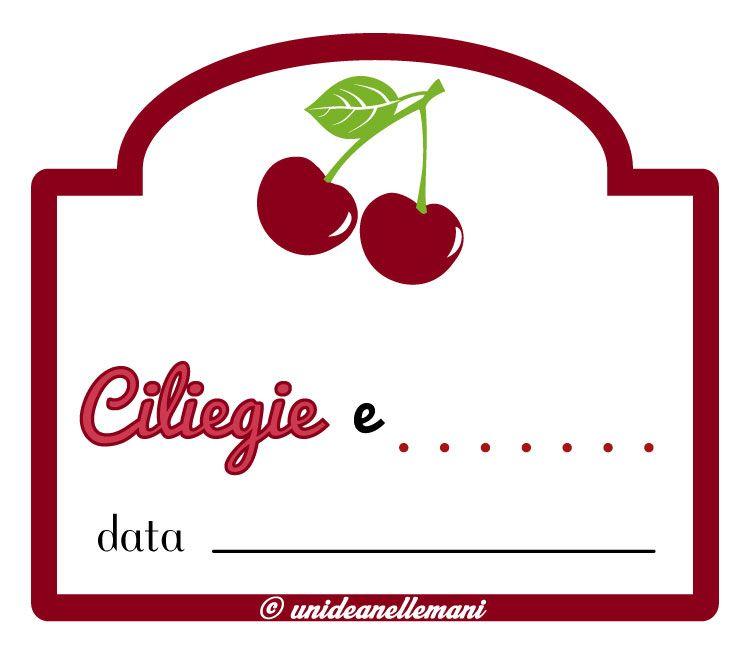 Favoloso etichetta marmellata di ciliegie e altra frutta da stampare  MU56