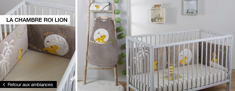 decoration chambre bebe roi lion