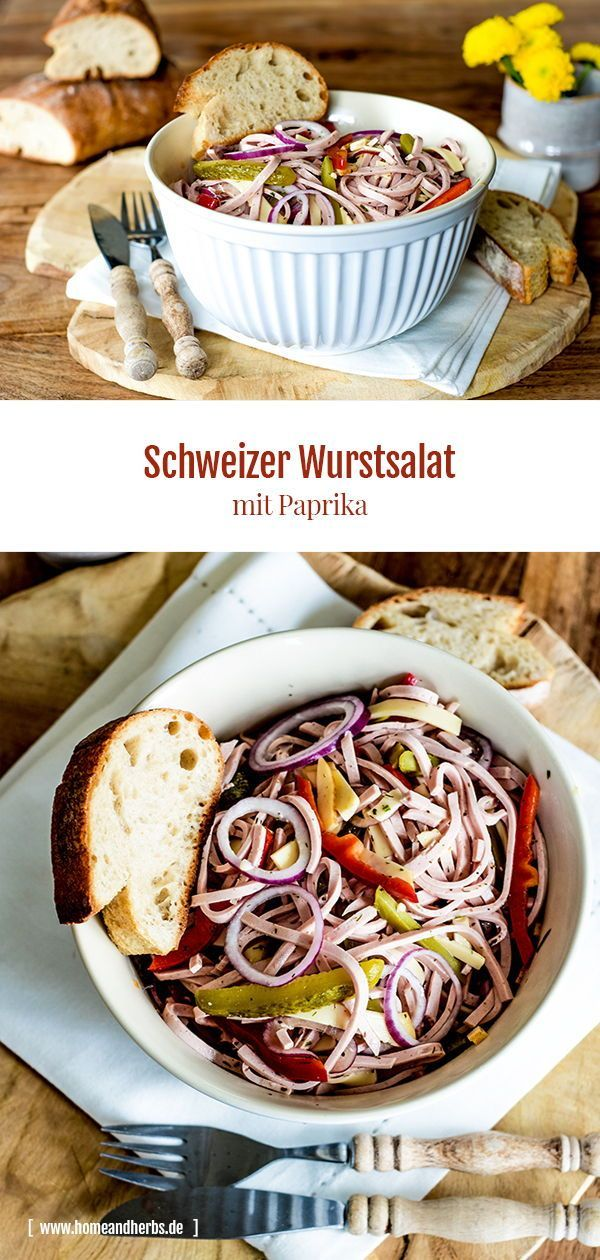 Photo of Schweizer Wurstsalat mit Paprika – Home and Herbs