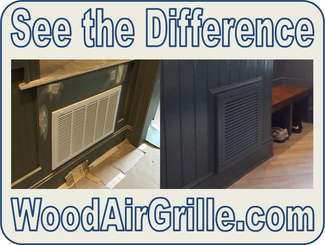 Wood Return Air Filter Grille Return air vent, Air