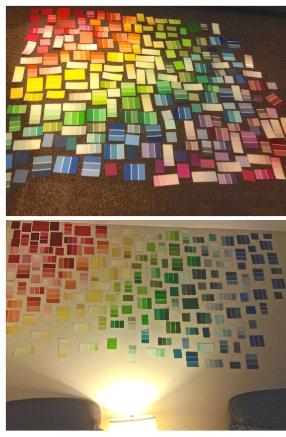Paint swatch wall art. paint samples. home decor | Apartment Decor ...