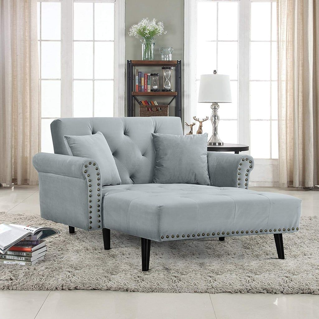 Divano Roma Velvet Recliner Chaise Lounge (With images