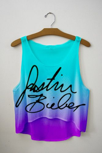 justin Bieber Signature Tie Dye Crop Top