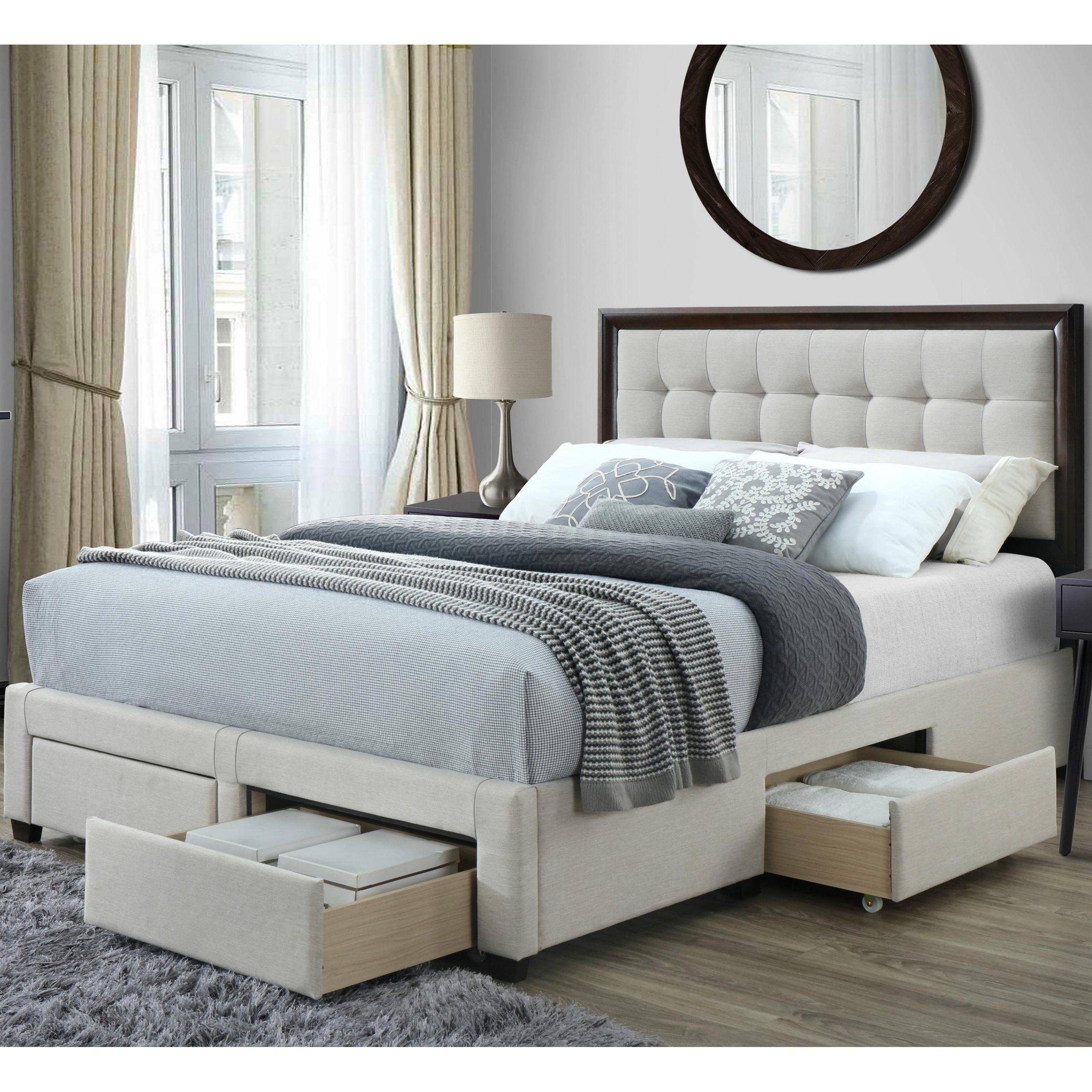 Copper Grove Kavaje Queen Upholstered Storage Bed Beige Bed