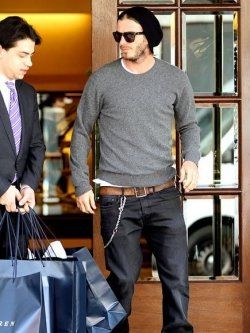 As one of the world's most sure footed sportsmen, it's no surprise that Becks never puts foot, nor well-heeled shoe wrong when running in the...