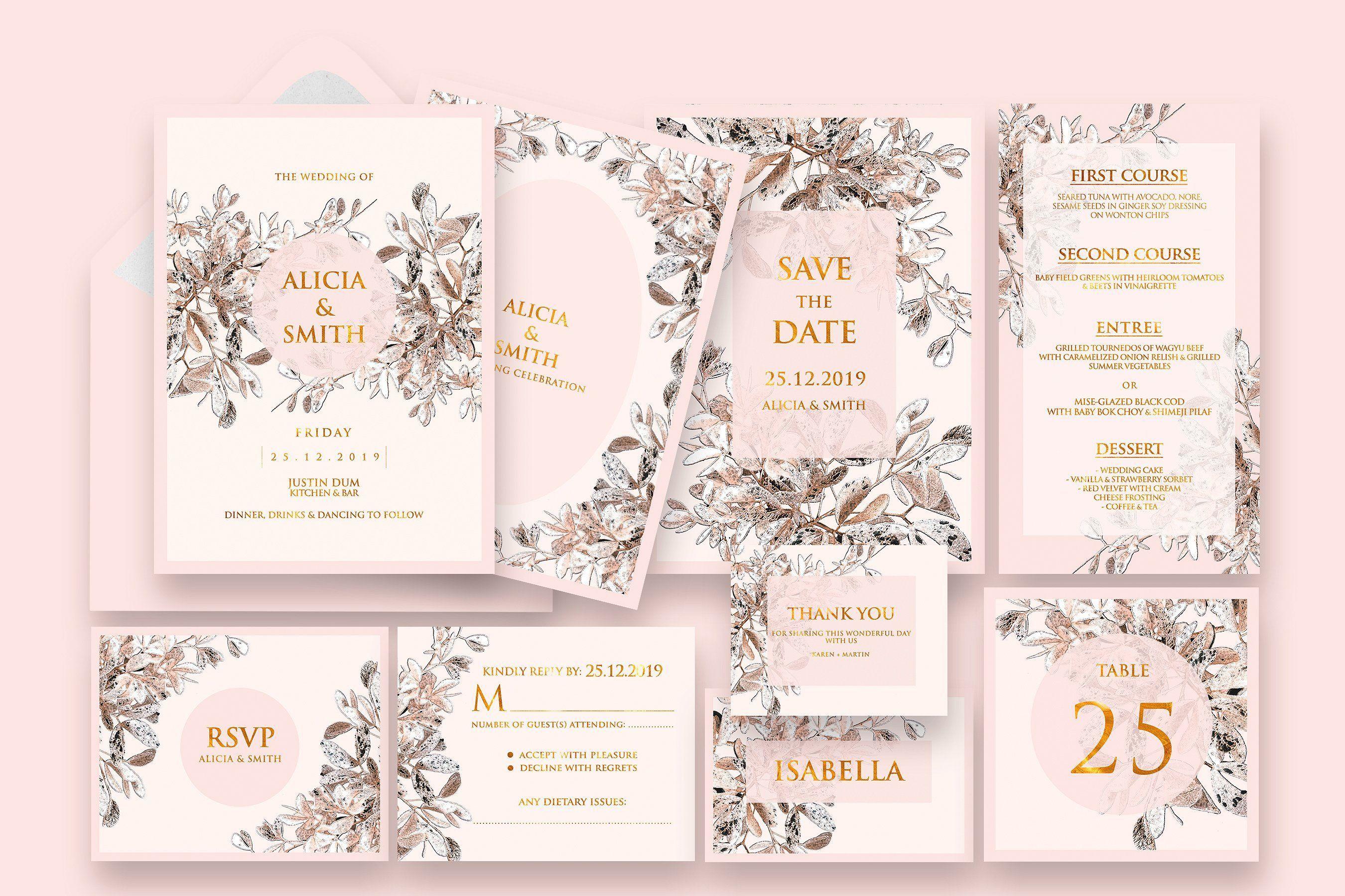 Sienna Wedding Invitation Templates