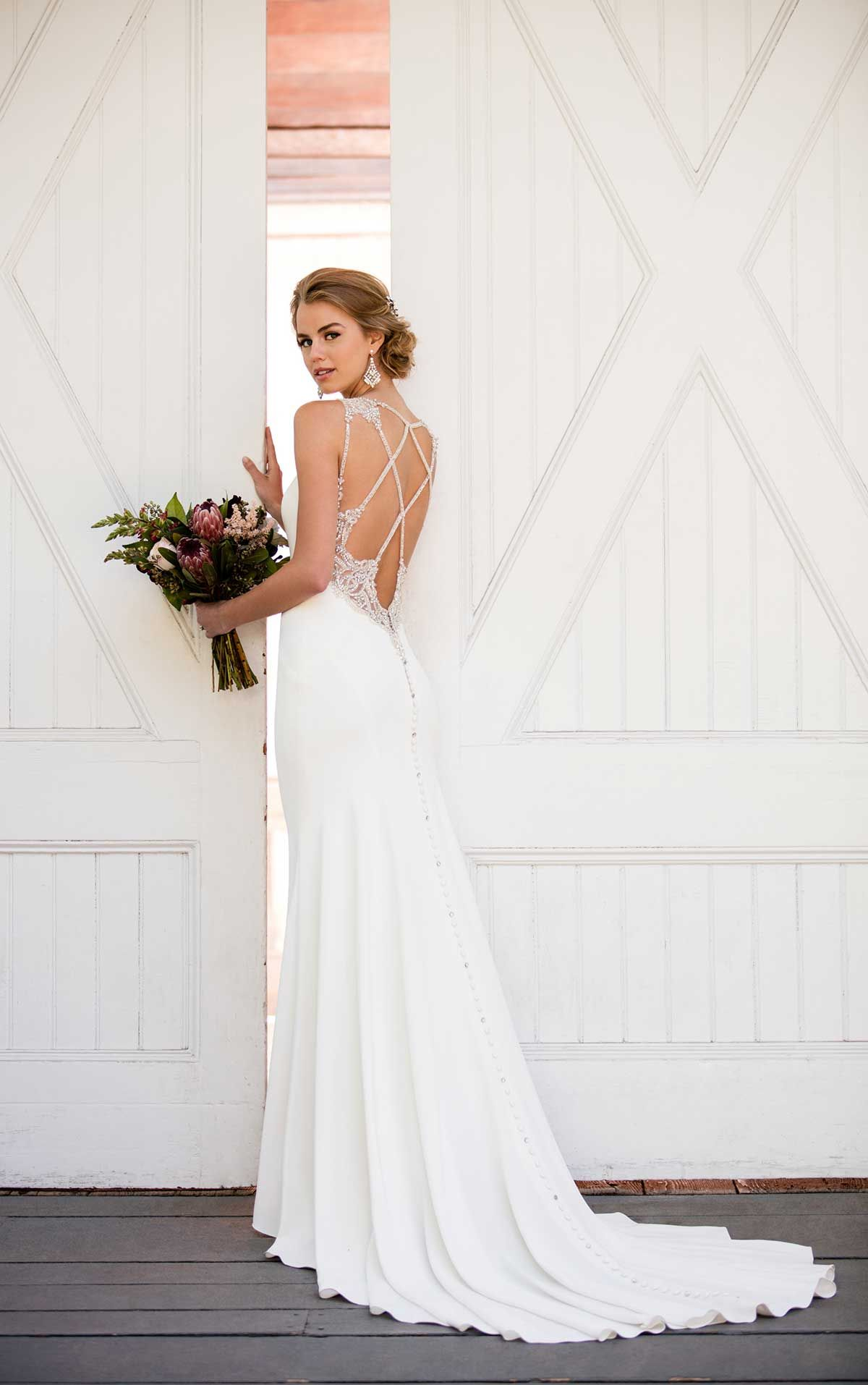 Simple Beaded Wedding Gown | Essense of Australia | Pinterest ...