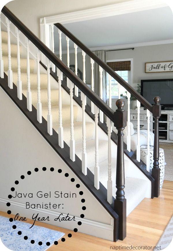 Best Darken Wood Trim With Gel Stain Staircase Makeover 640 x 480