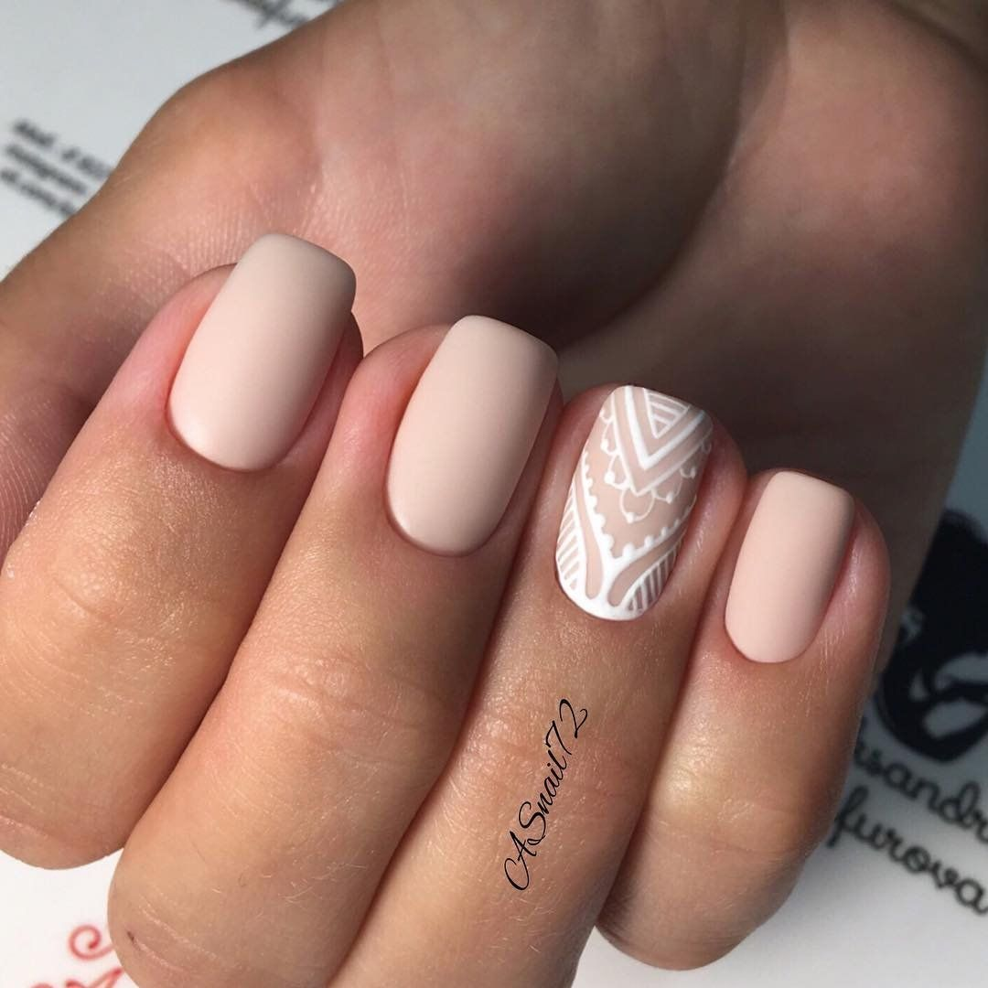 Nude Nails: 30 Nude Color Nail designs | Nude nails, Color nails and ...