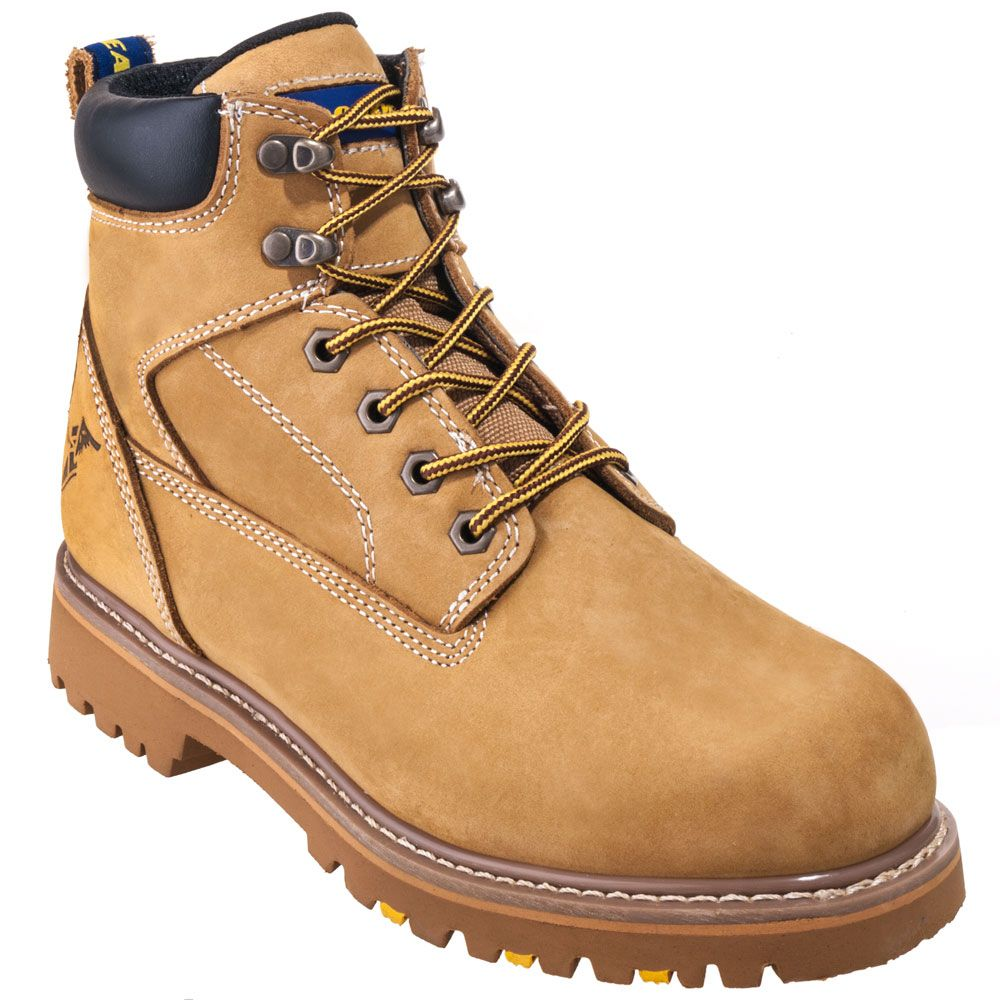 Goodyear Footwear Goodyear Boots Men's Tan 6-Inch Leather Slip-Resistant Boots GY6001C,    #GoodyearFootwear,    #GY6001C,    #Men'sBoots