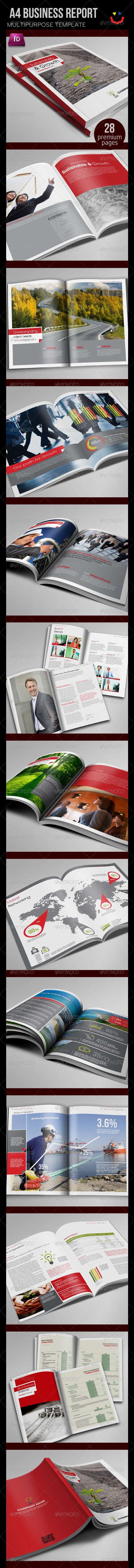 Annual Report Design Template Financial Brochures Indesign