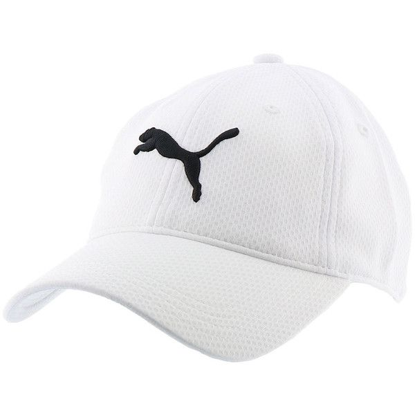 PUMA Women s PV1579 Enola Relaxed Mesh Cap White Hats ( 24) ❤ liked on  Polyvore featuring accessories 457a15686