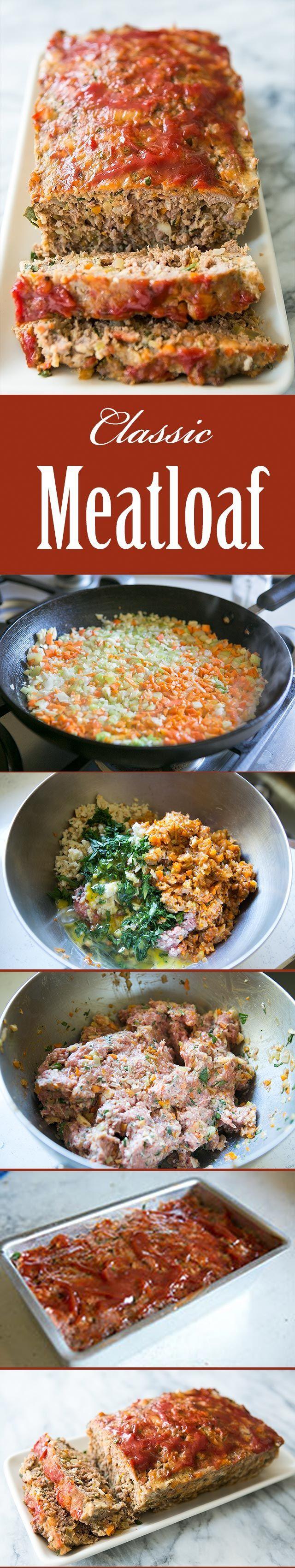 Classic Meatloaf Best Ever Recipe Classic Meatloaf Recipe Recipes Food