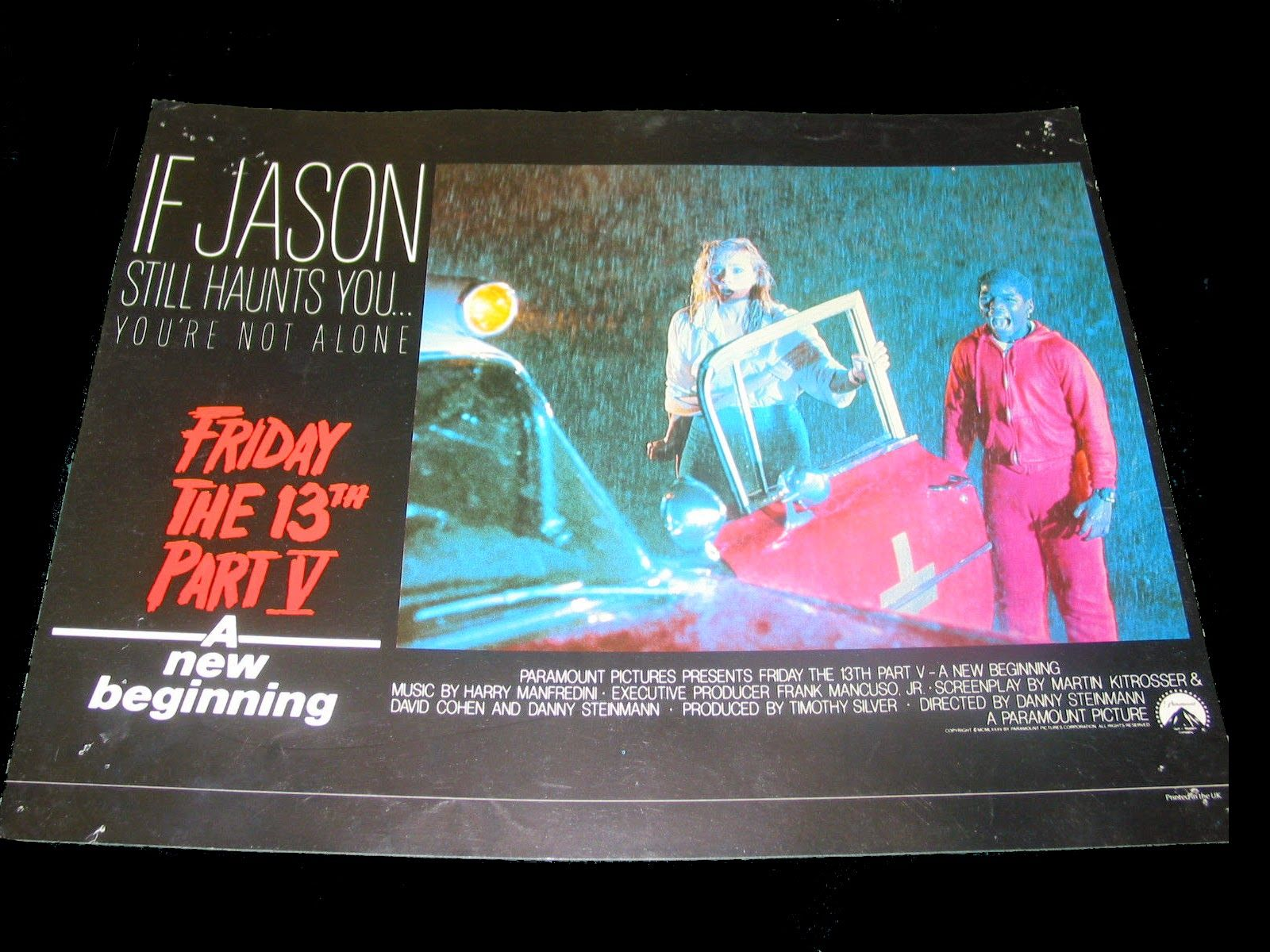 Friday the 13th Part V: A New Beginning (1985) UK lobby card