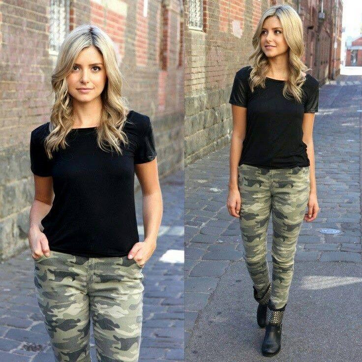 568c9c31941 Ideas de outfits estilo camuflajeado | combinaciones pantalones ...