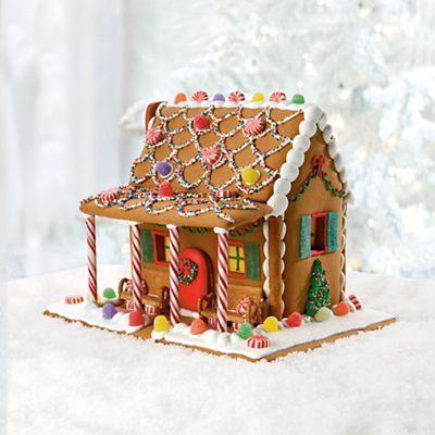 Attirant Gingerbread House Ideas | Gingerbread House With A Candy Cane Porch!