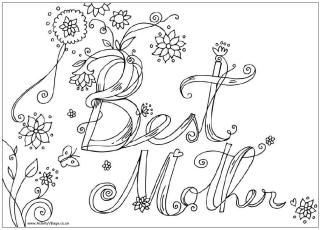 Print Out Our Mothers Day Colouring Pages As A Special Activity For They Are All Original To Village And Theres Something