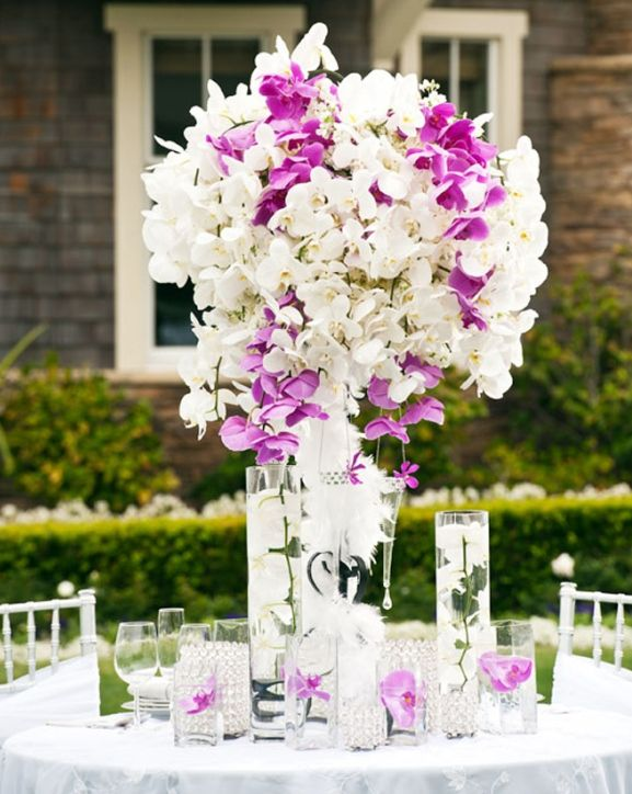 wedding reception centerpieces | Floating candles wedding