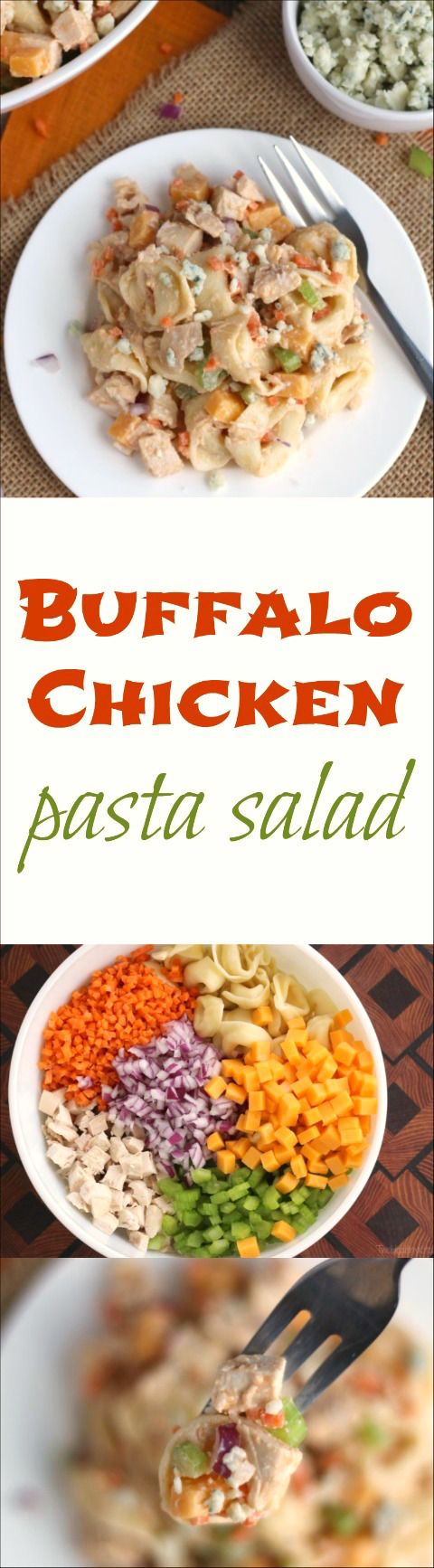 Buffalo Chicken Pasta Salad - Two Healthy Kitchens