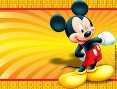 Plantilla Para Invitación De Mickey Mouse Invitaciones