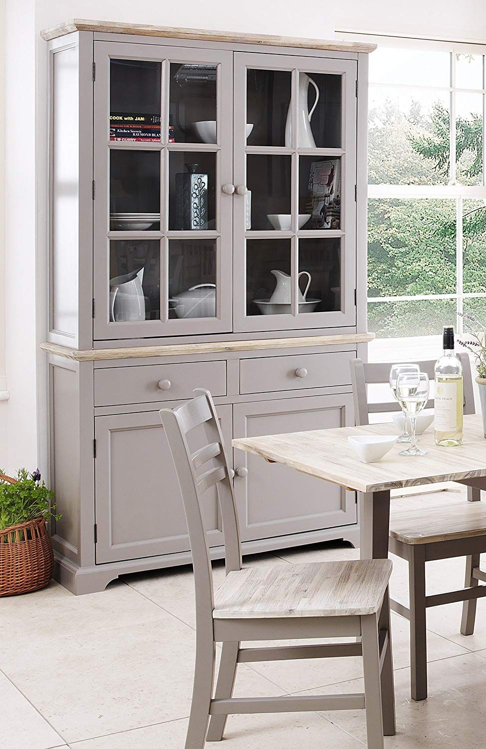 Display Cabinet Very Solid Dove Grey