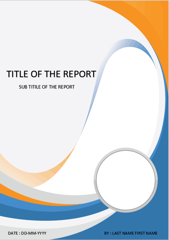 Cover Page Download Template For Ms Word Cover Page Artistic Waving Cover Page Template Cover Page Template Word Cover Pages
