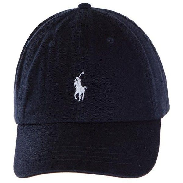 f50af6717ec98 Polo Ralph Lauren Relaxed Fit Classic Cap | University Co-op ($95) ❤ liked  on Polyvore featuring accessories, hats, black and white hat and caps hats