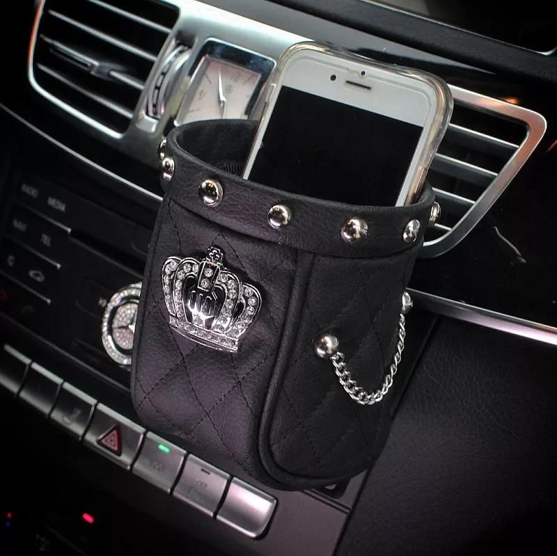 Phone Holder For Car With Bling Crown Car Accessories Car Phone Holder Girly Car Accessories